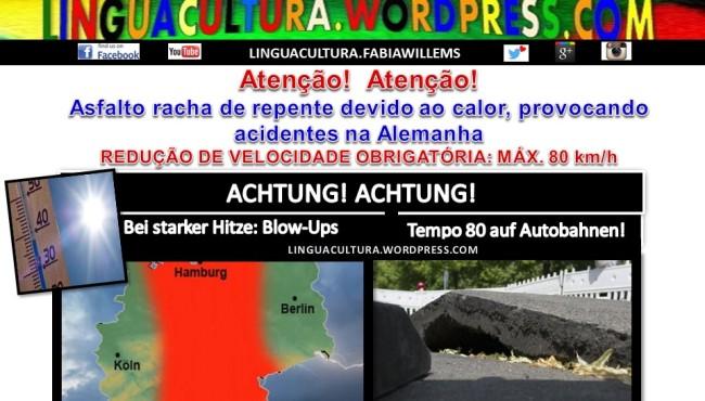 asfalto racha na Alemanha