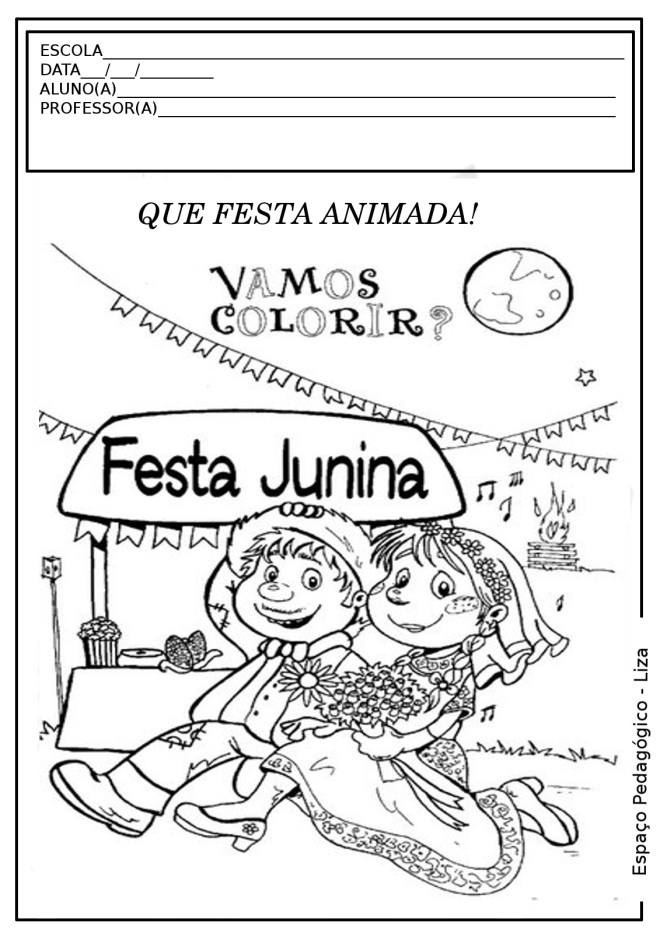 Resultado de imagem para desenhos para colorir festa junina
